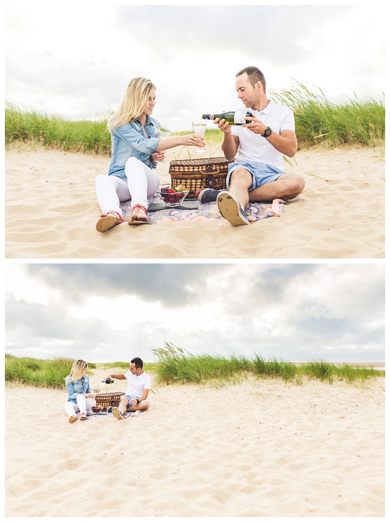 Holkham Beach Engagement Shoot, by Norwich Wedding Photographer Jamie Groom